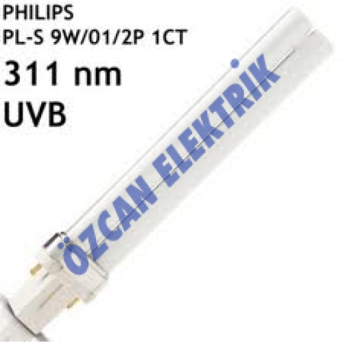 PL-S 9W/01 PHILIPS G23 DAR BANT  AMPULLER UV-B 311 nm